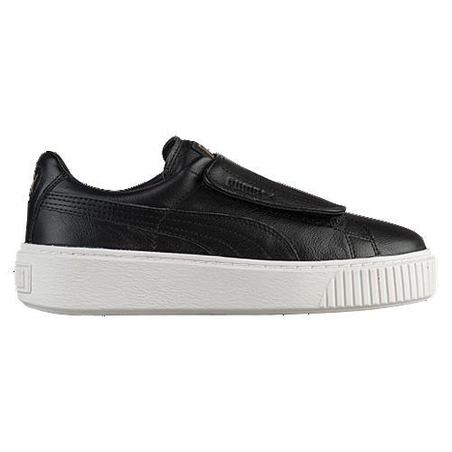 Puma Basket Platform Bigvelc Wns Sepatu Olahraga Sneakers Wanita-Puma Black- Puma White dc162f5960