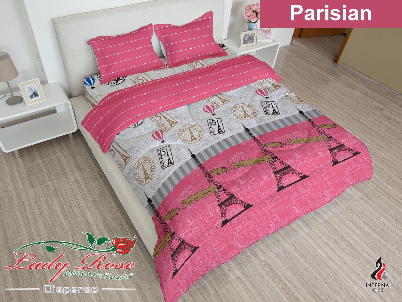 Bed cover LADY ROSE motif PARISIAN King Size 180 x 200 cm eiffel tower paris romantic