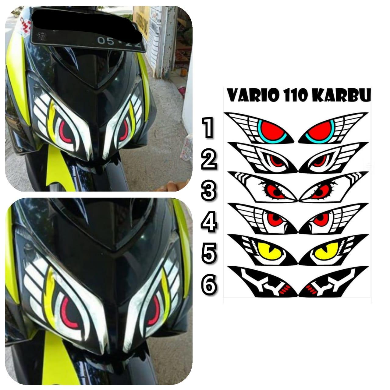 Stiker sticker mata elang vario 110 karbu cw lazada indonesia
