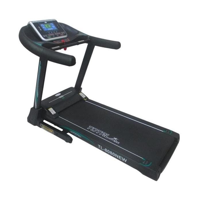 FREE ONGKIR INDONESIA TOTAL FITNESS Motorized Treadmill Elektrik Komersial TL8080 Hitam