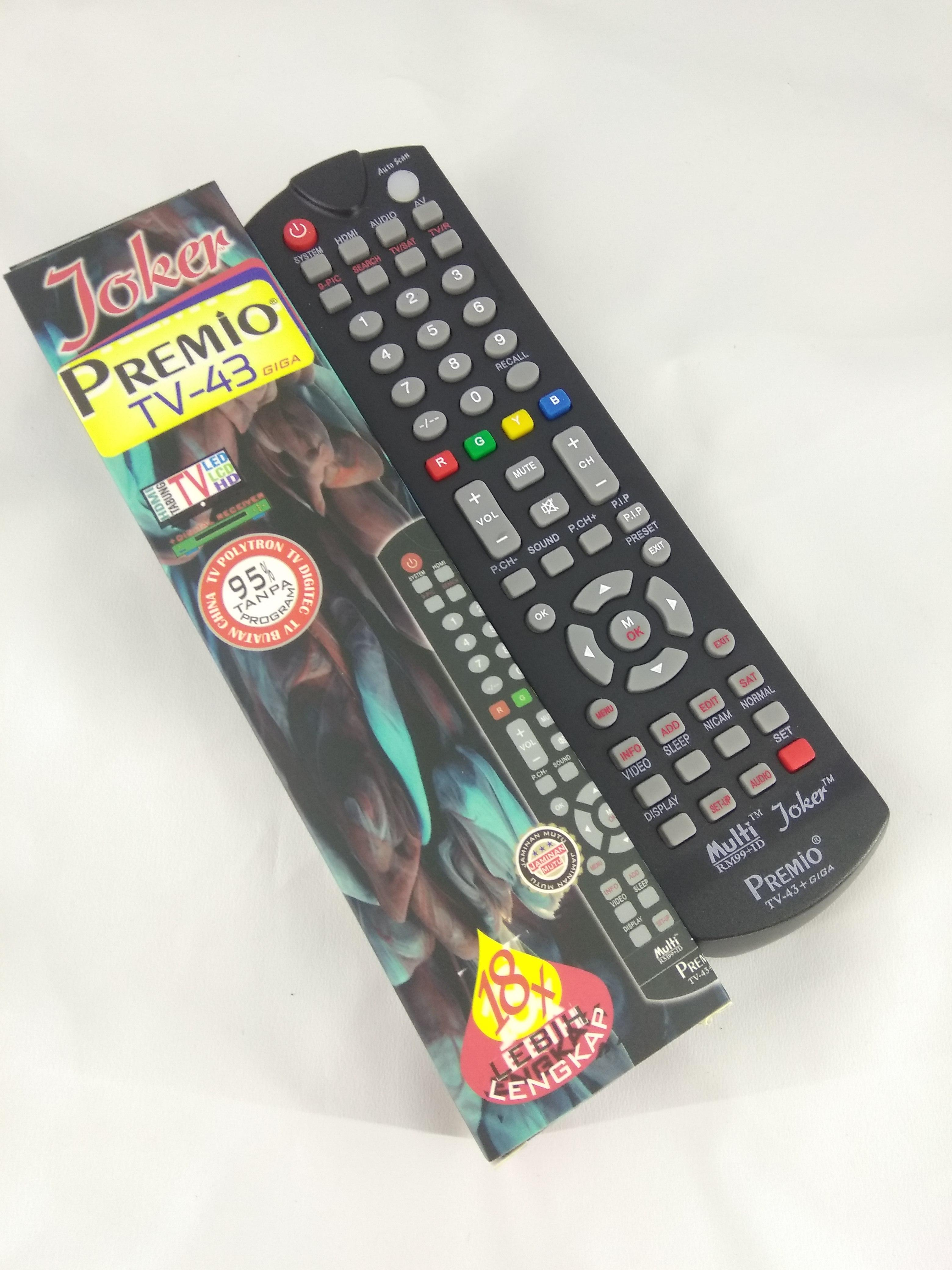 Remot Remote Tv Tabung Lcd Led Multi Universal Joker Premio Mega Mito Coocaa Changhong Lg Sharp Dll Lazada Indonesia