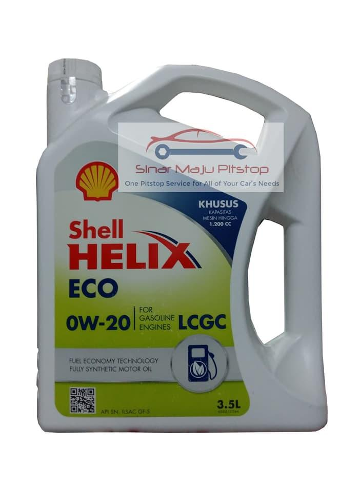 Shell Helix ECO SYNTHETIC 0W-20 ORIGINAL OLI MOBIL NISSAN MARCH 1200cc
