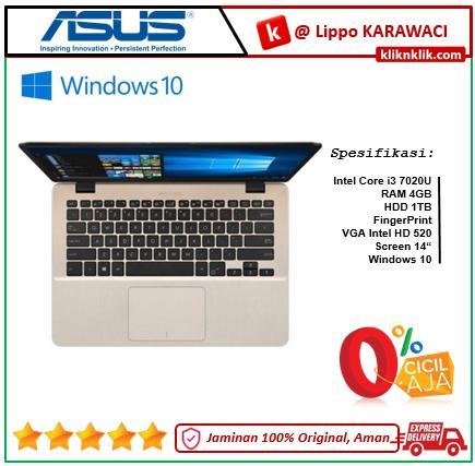 ASUS A407UA-BV320T Gold Icicle - i3 7020U-4GB-1TB HDD-Win10