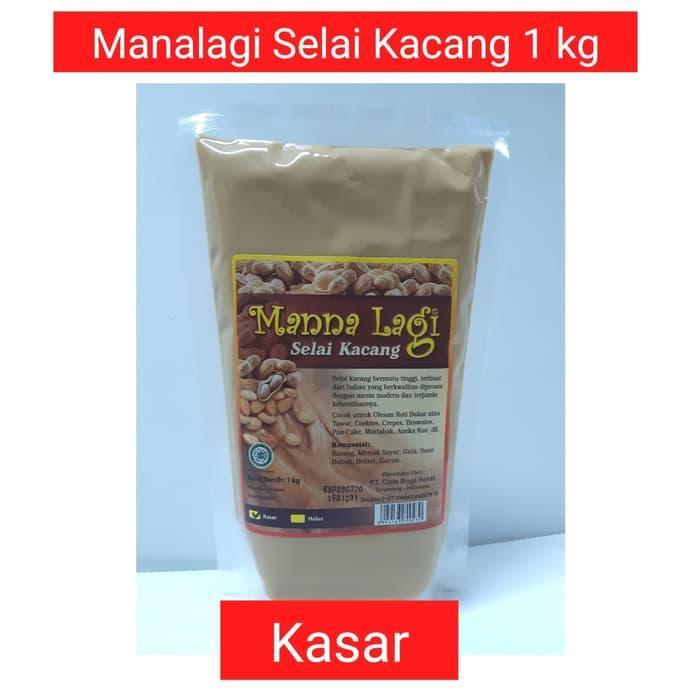 Mannalagi Selai Kacang Kasar Chunky 1 Kg By Topsatu.