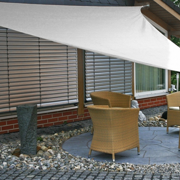 Bảng giá 1Pcs Sunshade Canopy Triangular Sun Shade Sail UV-Resistant Shade for Patio Outdoor Garden Patio Top Cover (White)