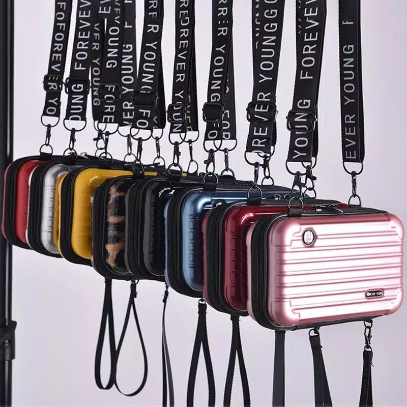 SK online shop-COD-Tas wanita selempang koper mini forever polos-tas tangan