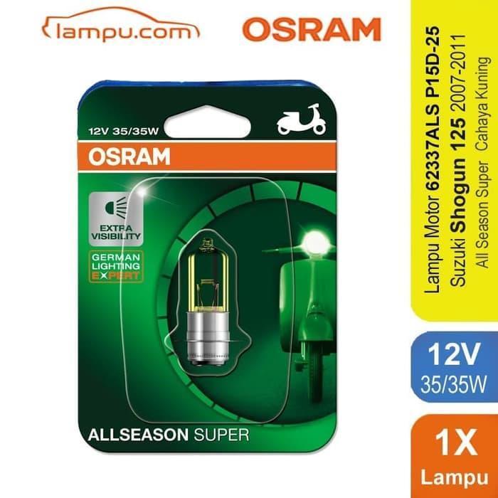 TERLARIS!!! Osram Lampu Depan Motor Suzuki Shogun 125 2007-2011 - 62337ALS SEDIA JUGA Lampu tumblr - Lampu led - Lampu sepeda - Lampu hias