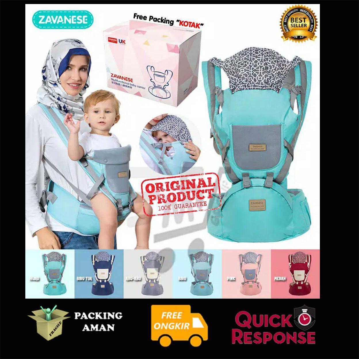 {produk Ori} Cahaya Amanah Gendongan Bayi Hipseat Zavanese Kupluk Hoodie Gendongan Anak Baby Carrier By Cahaya Amanah Kids Store.