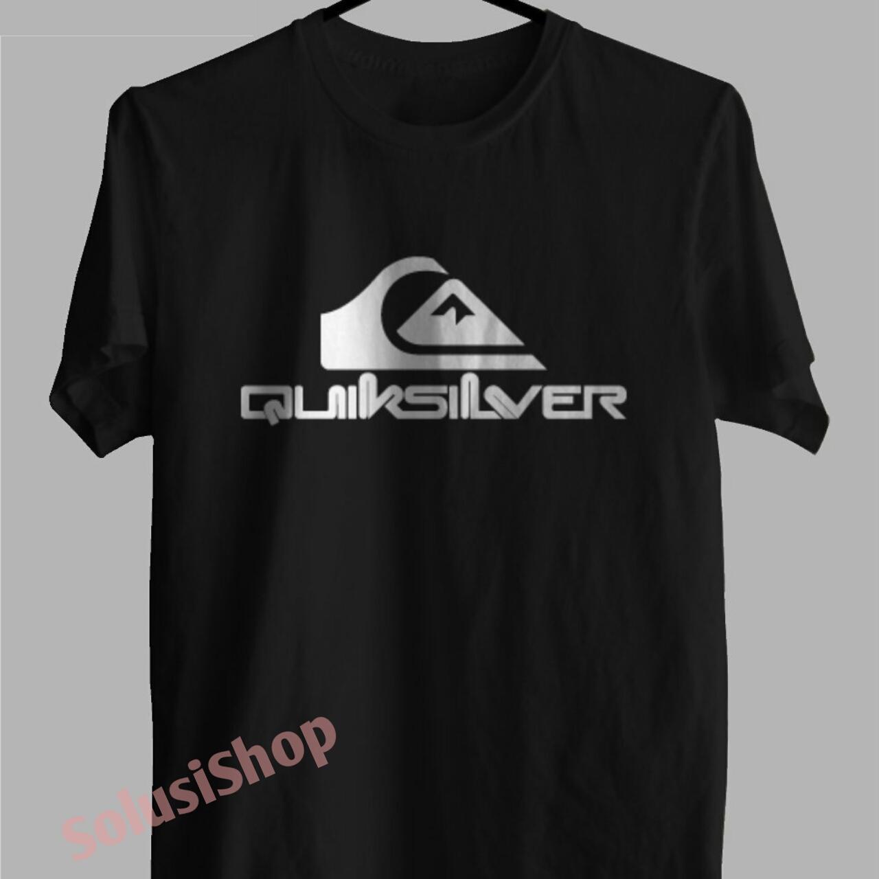 Baju Kaos Kaos Lengan Pendek Quiksilver Logo Texs Putih Solusi Shop Distro Premium
