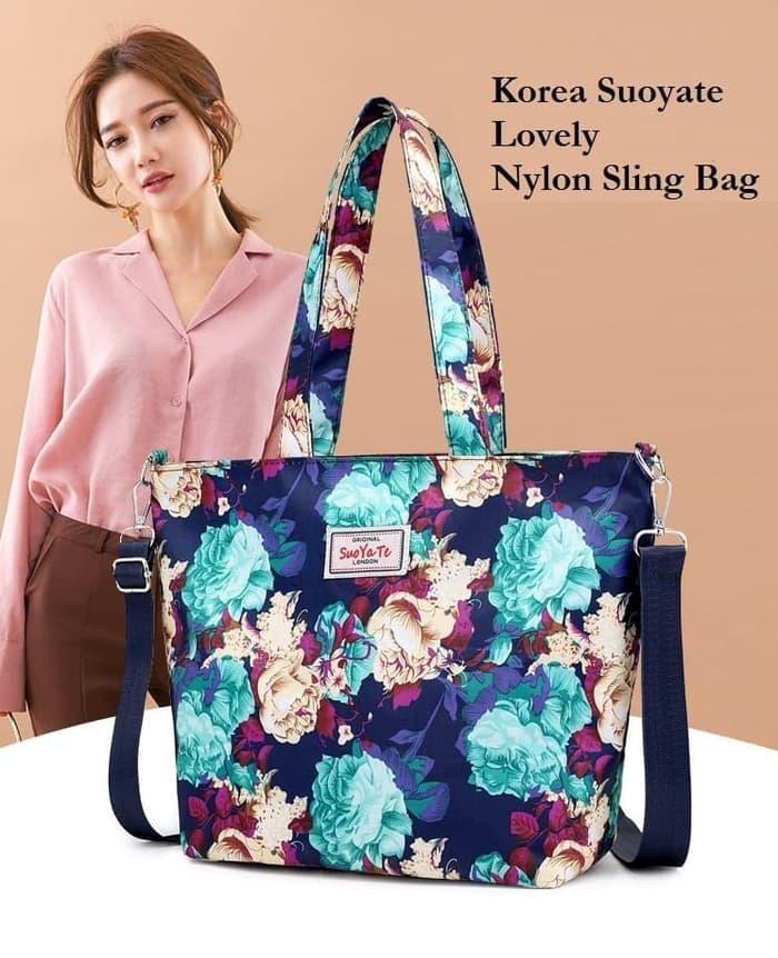 Ts76 Korea Suoyate Lovely Nylon Shoulder Bag/ Tas Selempang Wanita By Yurah Shop