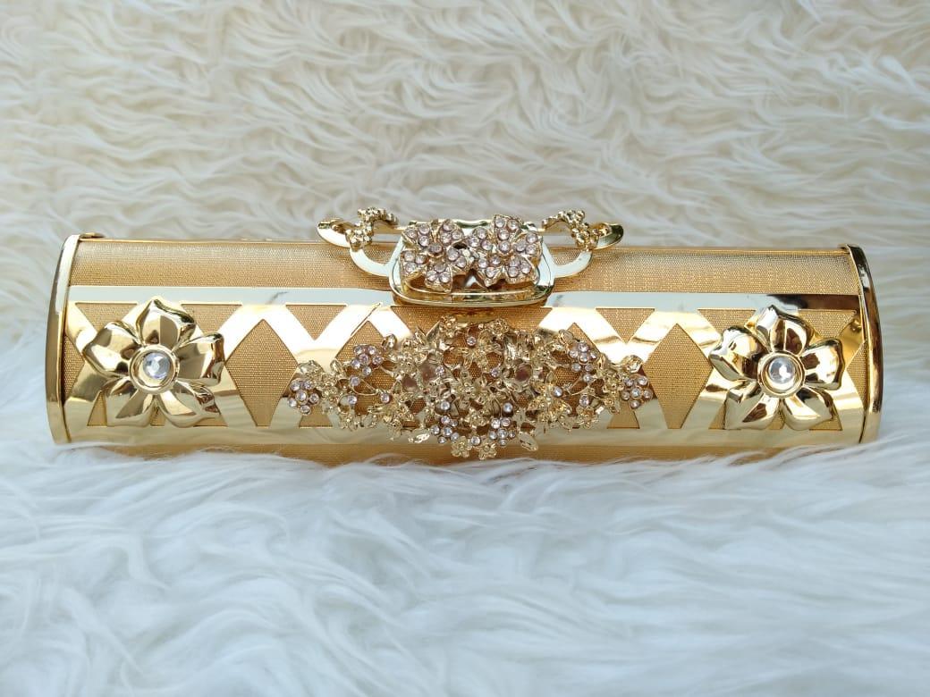 Tas Pesta Wanita Import Murah Clutch Panjang Hitam Dan Gold 20346 20347 29d7a1bf21