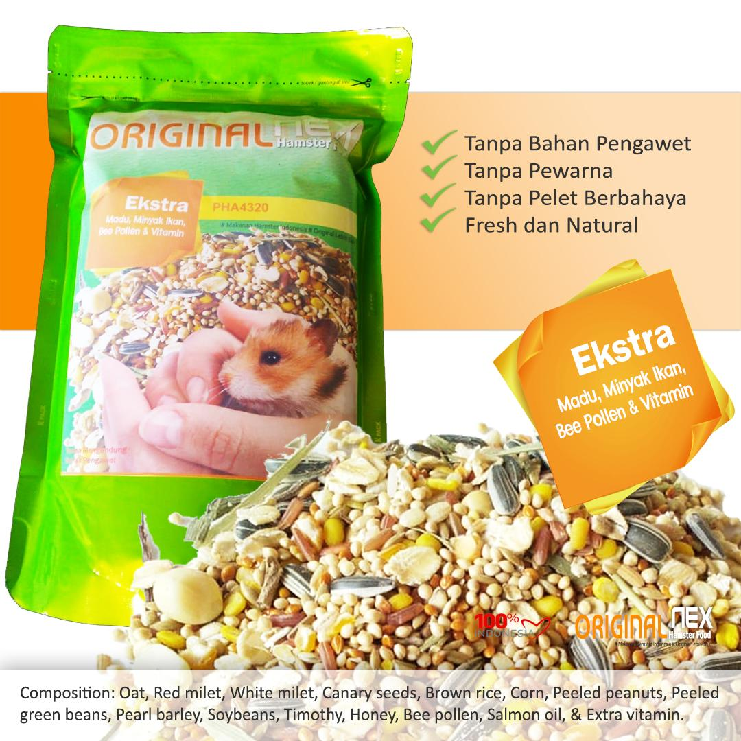 Original Nex Hamster Food Makanan Hamster Plus Vitamin By Prajahamster.
