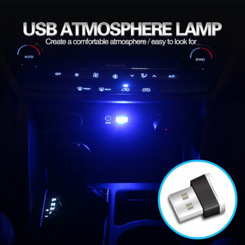 Bảng giá Samsmy Mua Một Được 2 Mini USB Không Dây Đèn LED Xe Ô Tô Không Khí Đèn Chân Đèn Trang Trí Mô Hình Đèn Môi Trường đèn Neon Đèn Nội Thất Ô Tô Đèn Xanh Phong Vũ