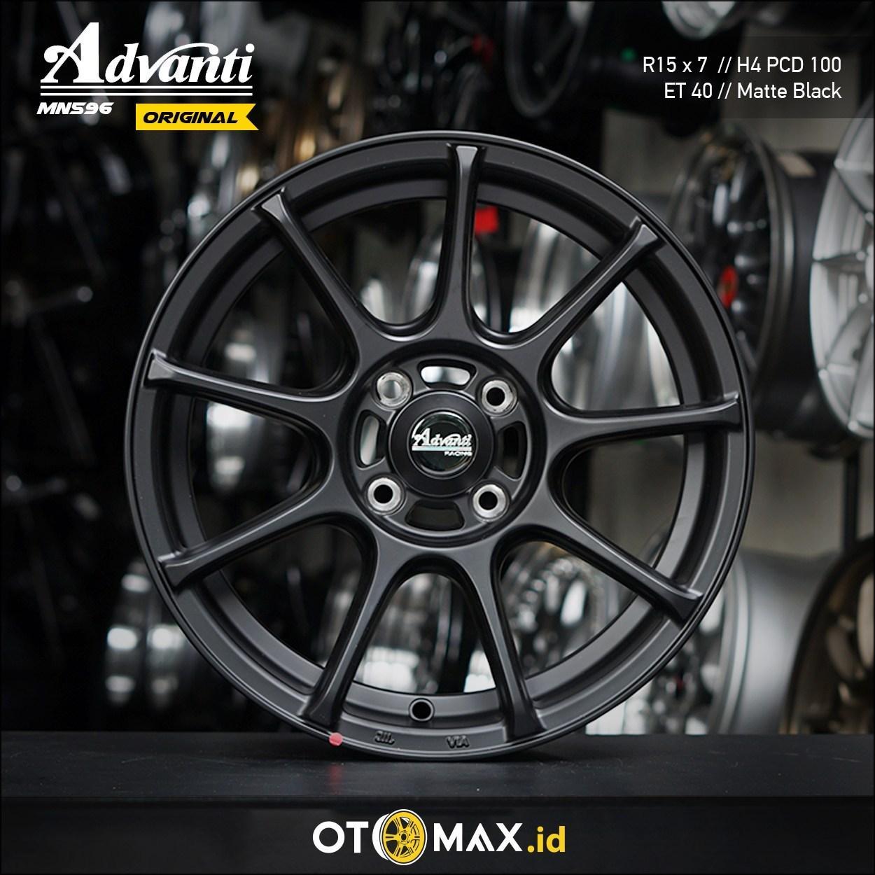 Velg Mobil Advanti MN596 ORIGINAL Ring 15 Matte Black