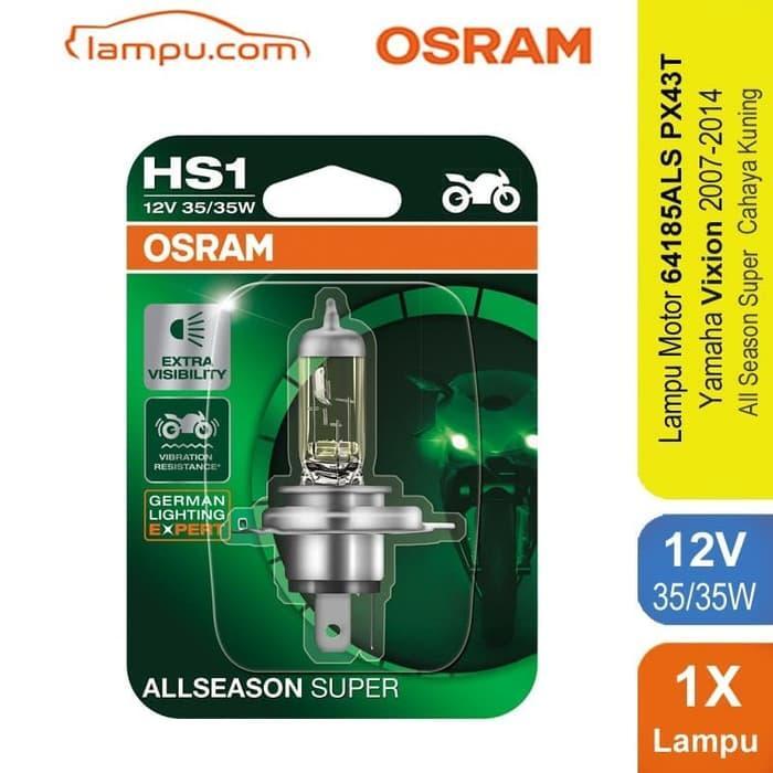 TERLARIS!!! Osram Lampu Kabut Motor Yamaha Vixion 2007-2014 - HS1 64185ALS  SEDIA JUGA Lampu tumblr - Lampu led - Lampu sepeda - Lampu hias