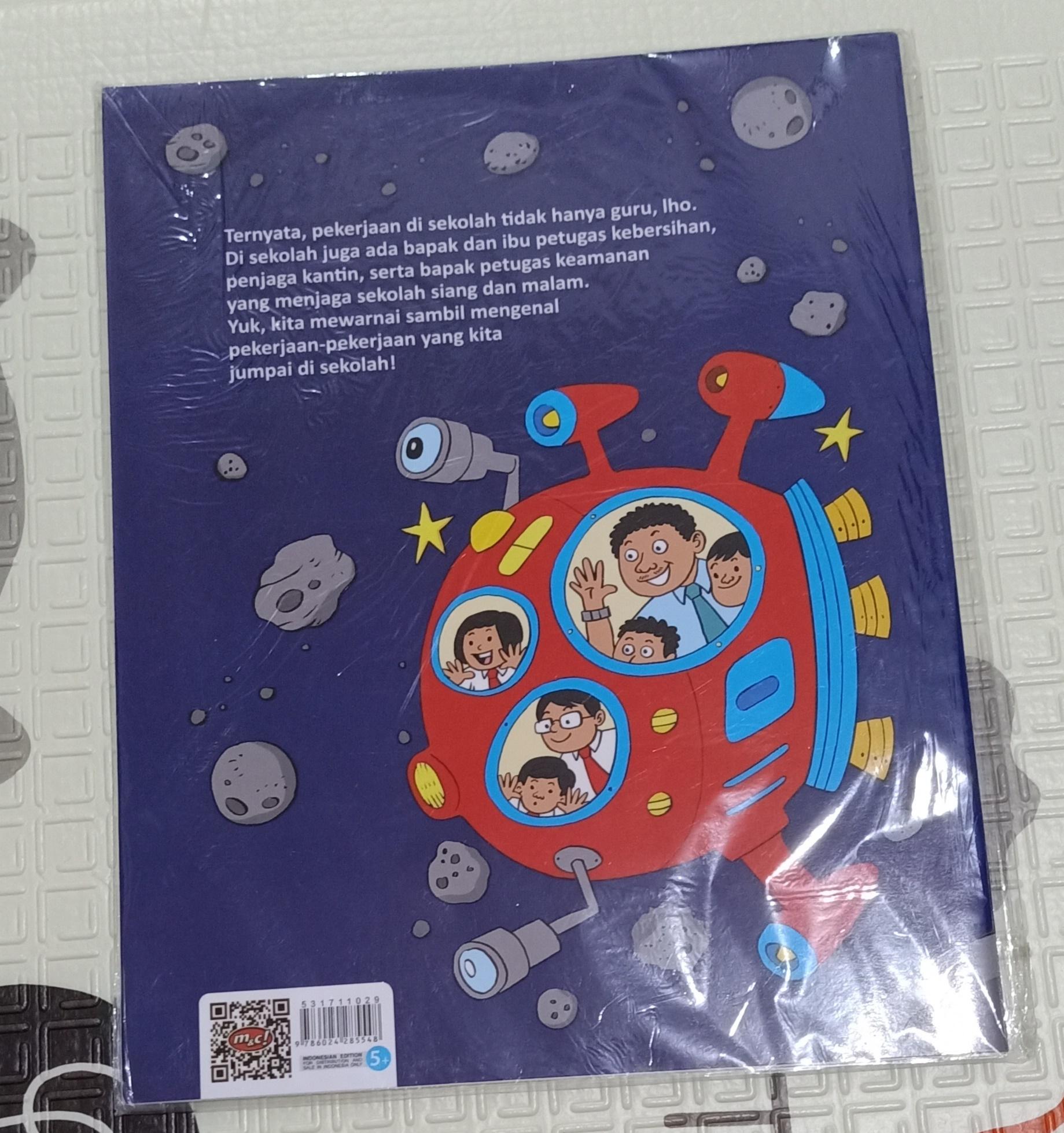 TML BUKU Mewarnai Anak Profesi Disekolah Buku Edukasi Anak