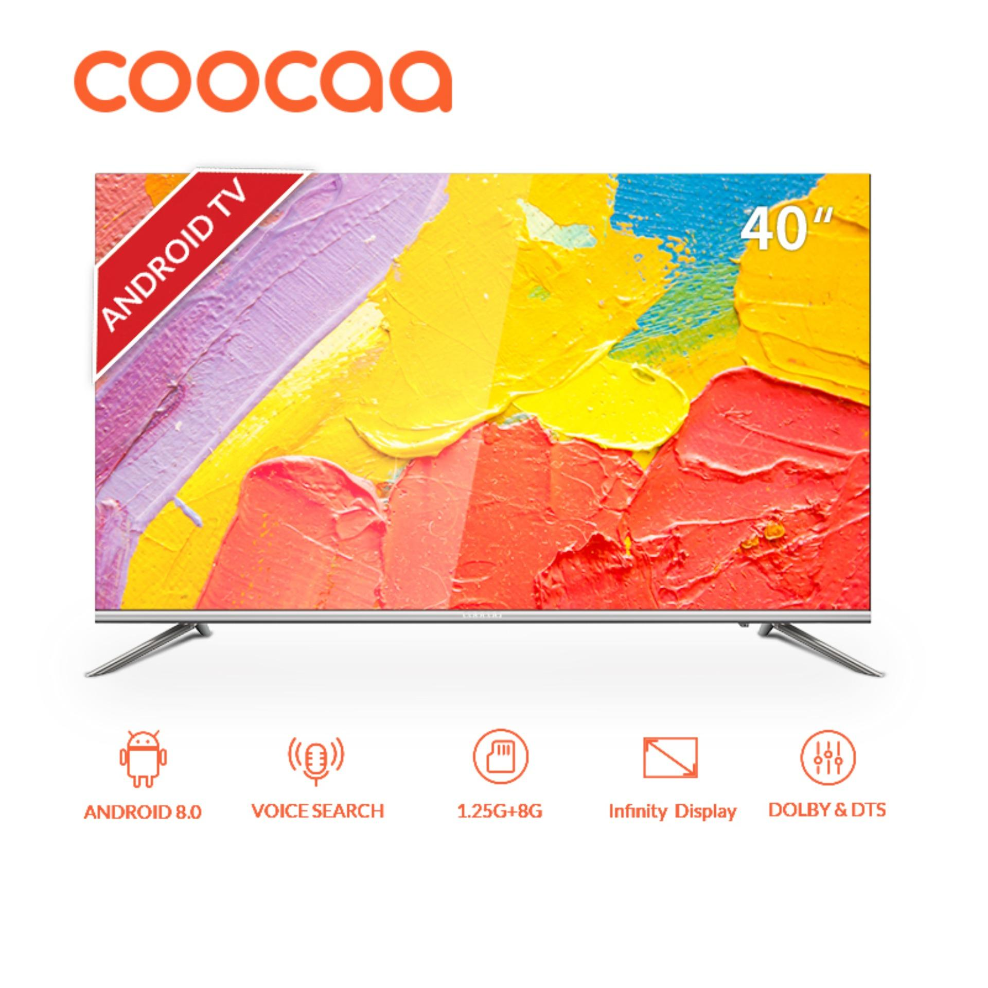 [Pre-Order, Mulai Dikirim 16 Nov 2019] COOCAA LED TV 40 inch Android Smart TV - Wifi - Full HD - Slim - Infinity View (Model : 40S5G) [GRATIS ONGKIR]