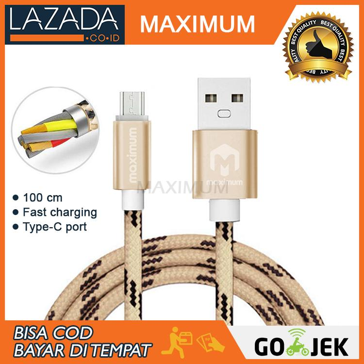 MAX COD - Maximum Nylon Kabel Data Micro USB Type-C 2A Fast Charging Data Cable 1M