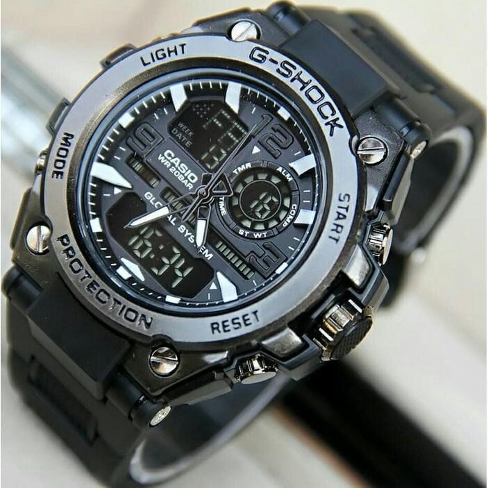 casio g shock 1721 Jam Tangan Pria dual time BODY BESI TALI KARET - Limited  edition 42433bc1b5