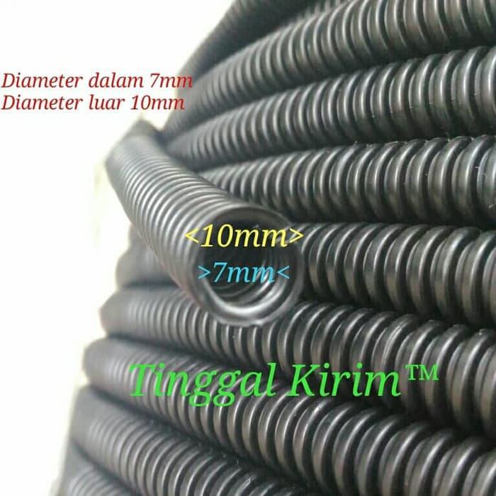 TWINS selang fleksibel belah 7mm untuk membungkus / merapihkan macam2 kabel