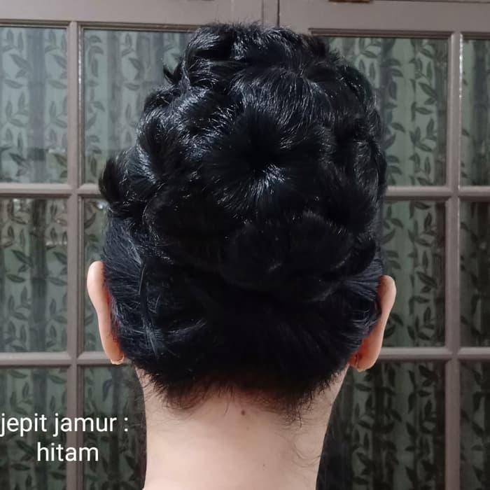 Toko Sikecil Jepit Jamur Hitam Cepol Rambut / Rambut Palsu / Wig Untuk Kerudung Hijab Jilbab Aksesoris Wanita By Toko Sikecil.