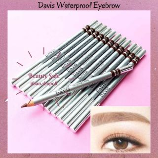 Davis Waterproof Eyebrow Pensil Alis Davis warna Coklat dan Hitam Pensil alis Coklat Pensil Alis Hitam murah jihan.shop08 thumbnail