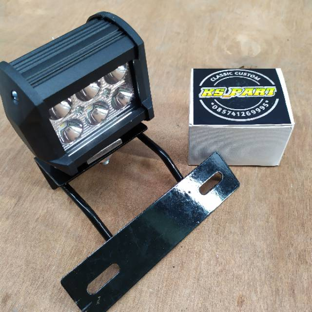 Lampu Depan LED RX KING 6 mata 1 mode + breket dudukan lampu putih