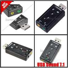 Sound Card Adapter USB 7.1 Chanel External Sound Card Audio / USB Sound 7.1 - Garansi 1 Bulan [ barang bagus ]