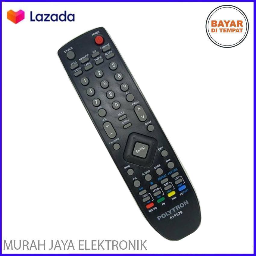 Remote Tv Polytron Original 100 Remot Tv Lcd Led Lazada Indonesia