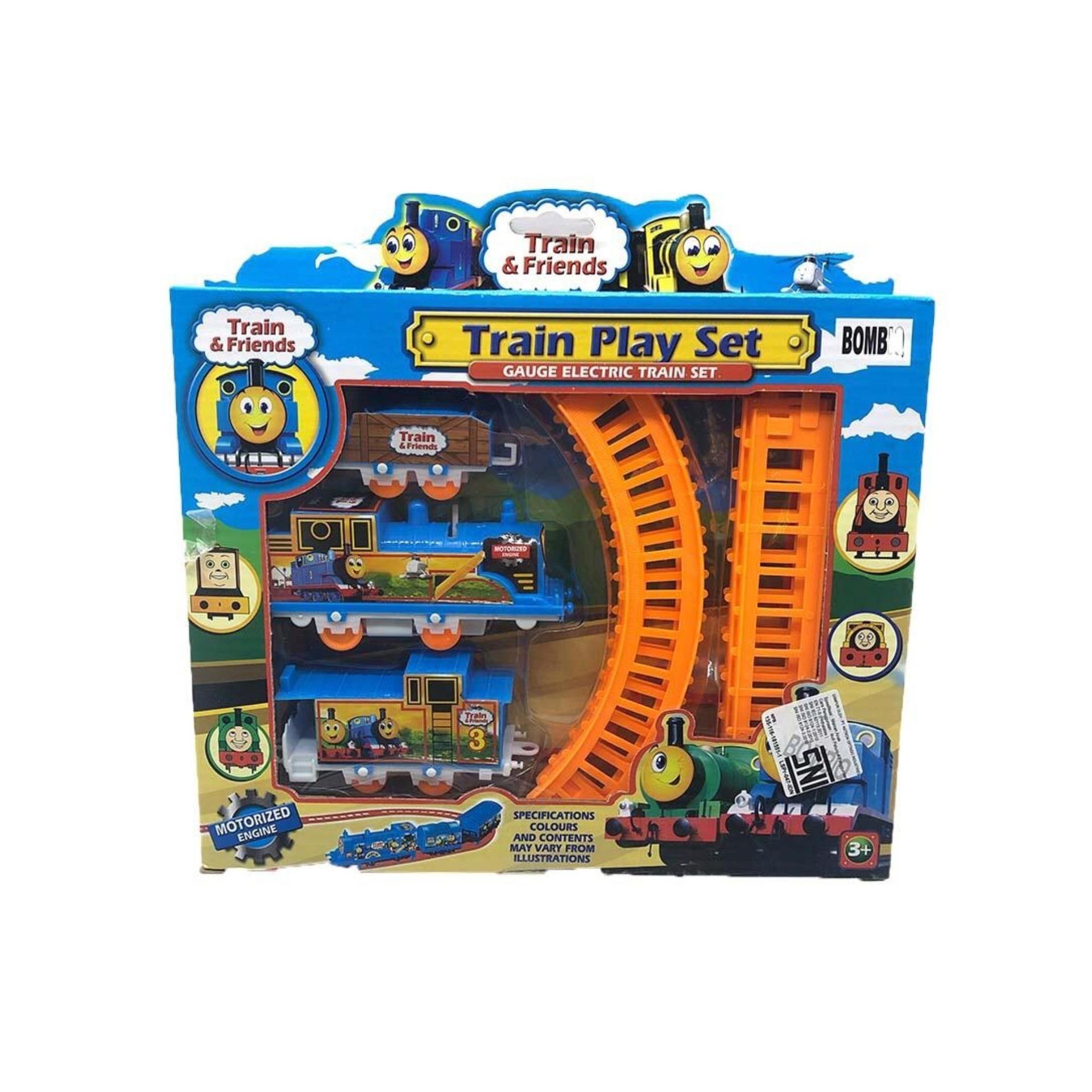Mesh TRAIN PLAY SET - Mainan Anak Kereta Api Set Rel Dan Gerbong All In One Electric Train Set - 1