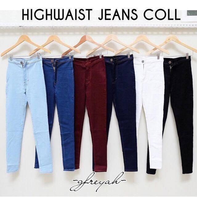 Celana Jeans Wanita High Waist Highwaist Coll By Yellow Fashion.