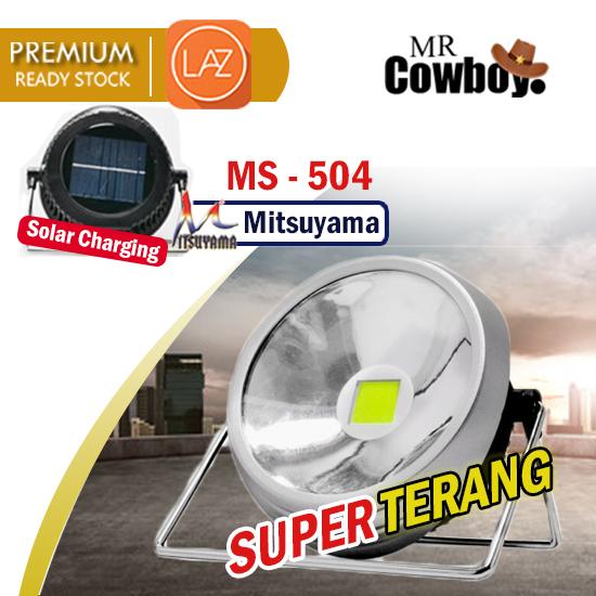 MR COWBOY Store - Mitsuyama MS - 504 20 Watt- Lampu Emergency Solar LED Besar Super Terang / Lampu Sorot Tembak