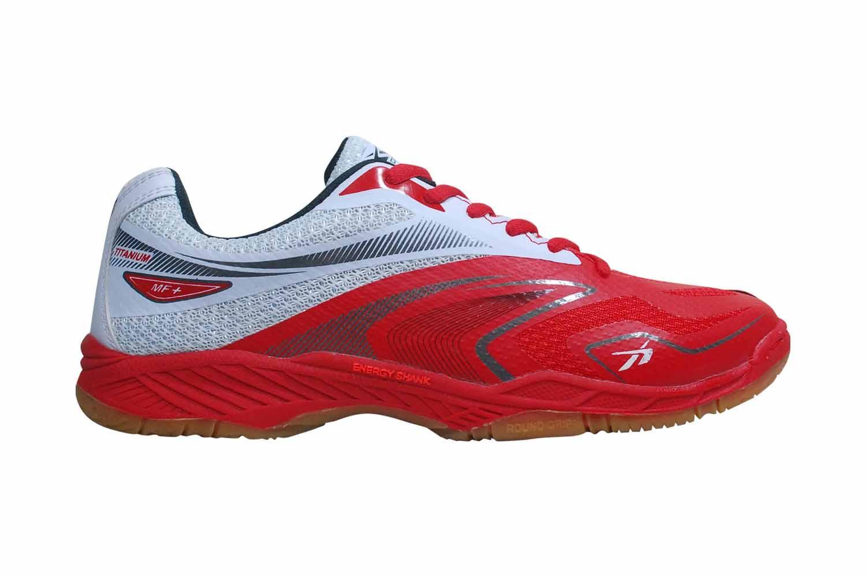 Sepatu Badminton   Sepatu Bulutangkis Spotec Original Titanium Merah - Putih 9620378441