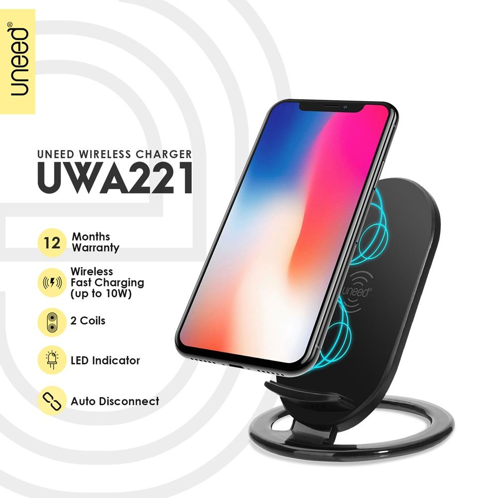 UNEED Fast Wireless Charging Pad Fast Charging Up To 10W - UWA221 - Original