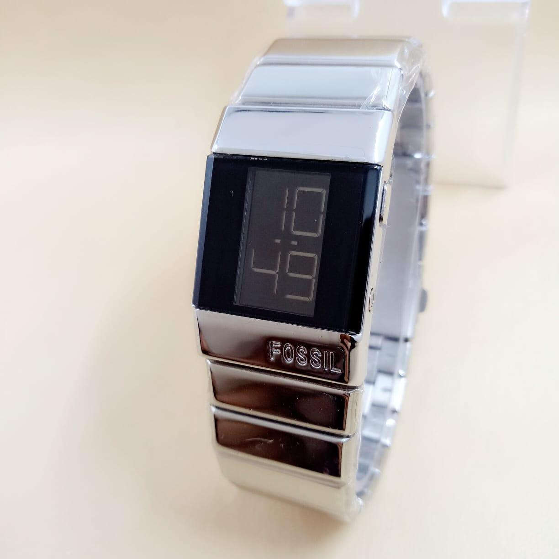 Jam Tangan Pria Atau Wanita Model Digital Tali Rantai Diameter Kecil Free Box dan Baterai Cadangan BJYSl