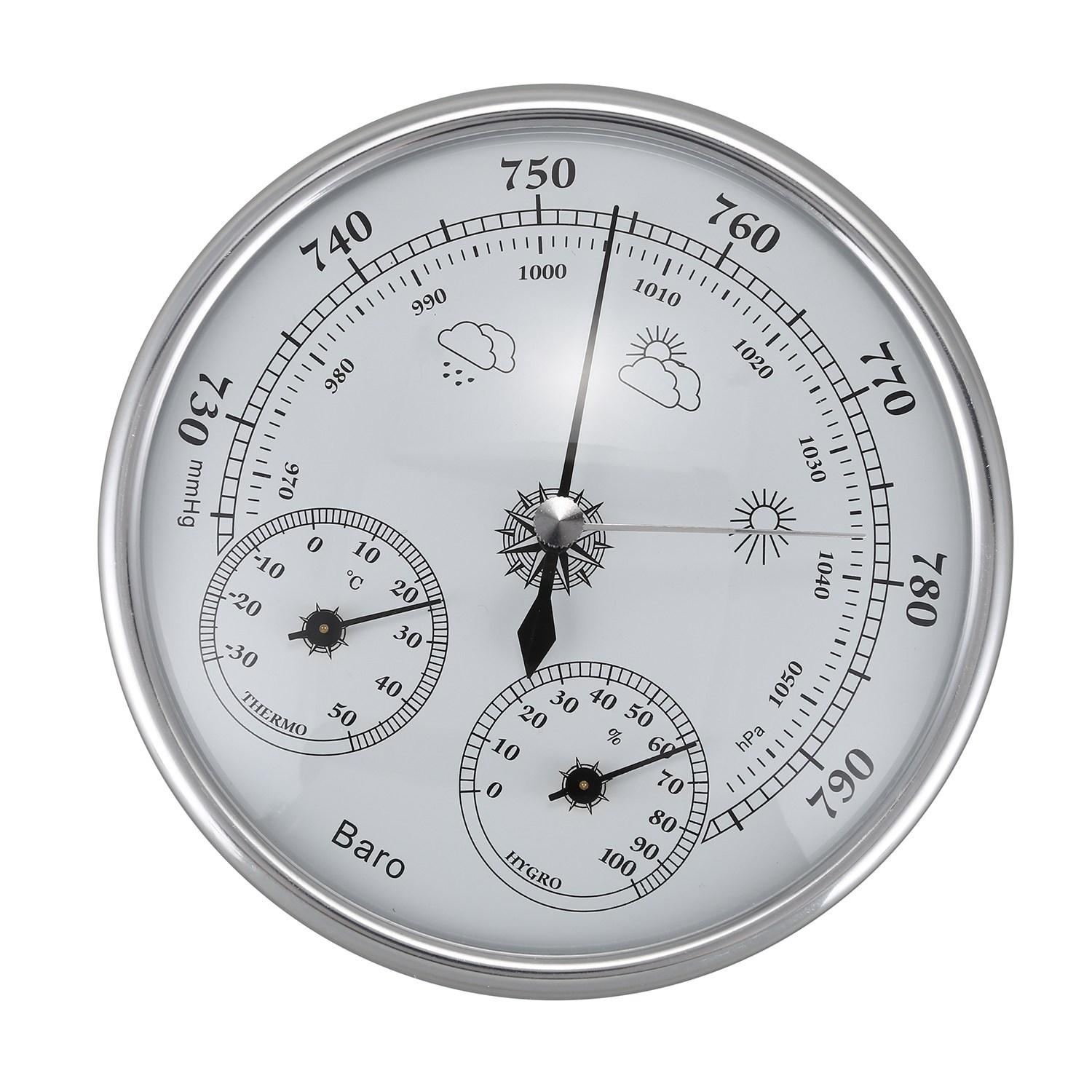 Wall Mounted Household Thermometer Hygrometer High Accuracy Pressure Gauge Air Weather Instrument Barometer By Ertic.