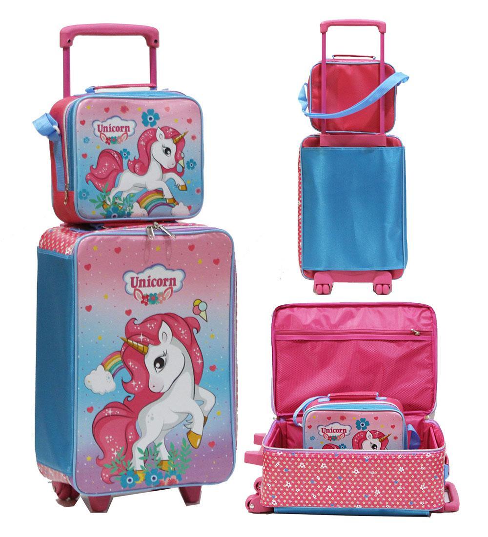 Onlan Set Koper Lunch Bag Unicorn Karakter Anak Perempuan Bahan Kain Sponge Tahan Air New Arrival By Abadi Jaya.