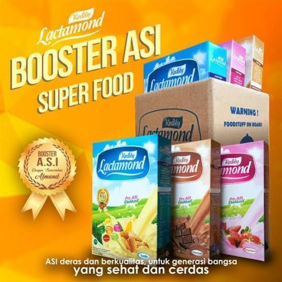 PAKET MURAH Campur 3 KOTAK Lactamond Booster ASI Rasa  Vanila,coklat,strabery 200 gram Original