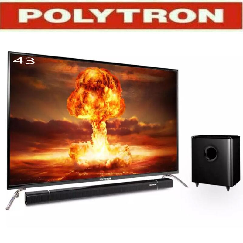 Polytron LED TV 43 With Sound Bar - 43B150 garansi resmi