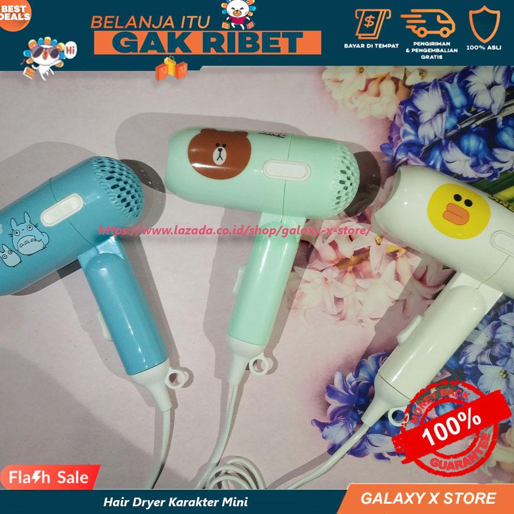 Hair Dryer Lipat Pengering Rambut Mini Karakter   Catok Mini Rambut Lurus  Curly 125fbca7db