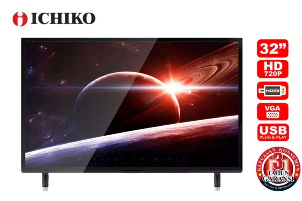 [GRATIS ONGKIR] Ichiko TV LED 32 inch HD Basic (model S3278)