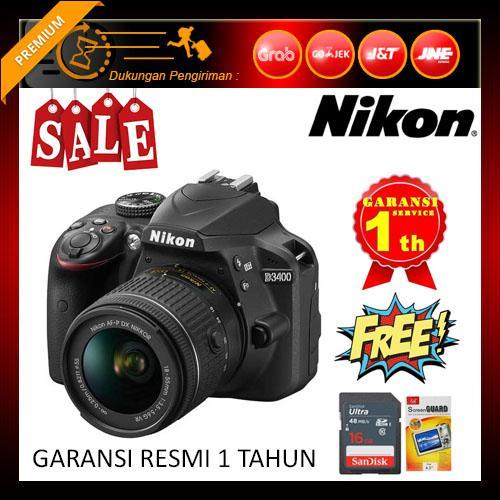Nikon D3400 Kit AF-P 18-55mm (Free Screenguard Terpasang + SDHC 16GB)