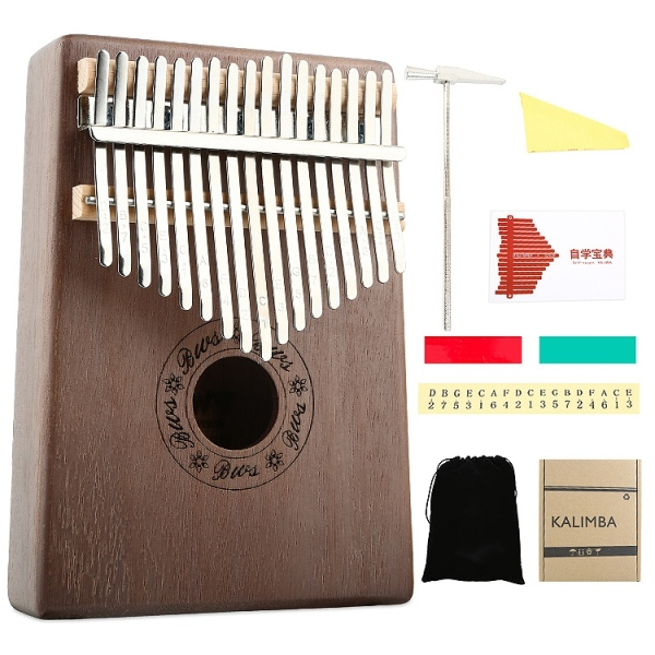 Kalimba 17 Key Thumb Piano Wood Mahogany Calimba Body Musical Instruments Mbira Kalimba with Learning Book Tune Hammer Malaysia