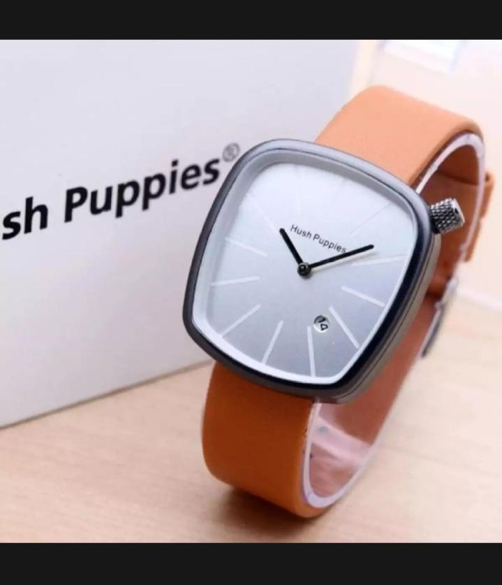 Jam Tangan Hush Puppies - Jam Tangan Wanita Hush Puppies Leather Strap  Dengan Tanggal Aktif 45f794573a