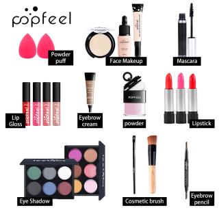 POPFEEL 20 Cái bộ Make-Up Set Novice Ánh Sáng Make-Up Hộp Quà Tặng Full Starter Bộ Trang Điểm thumbnail