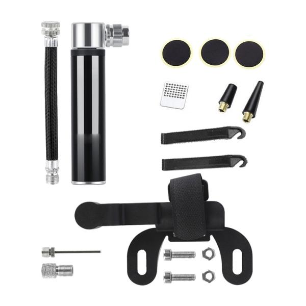 Hand Mini Bicycle Pump Tire Air Inflator Valve Ball Needle Hose MTB Accessories Portable Bike Pump