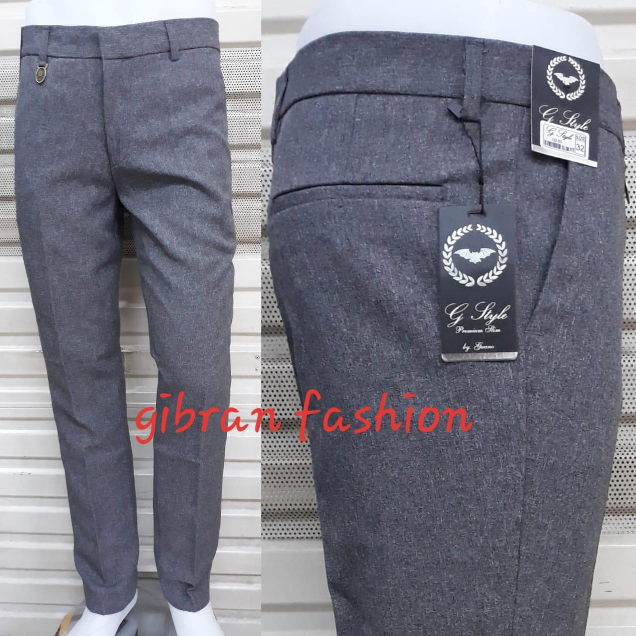 Celana panjang pria formal/kerja model slimfit bahan gabardin bagus murah