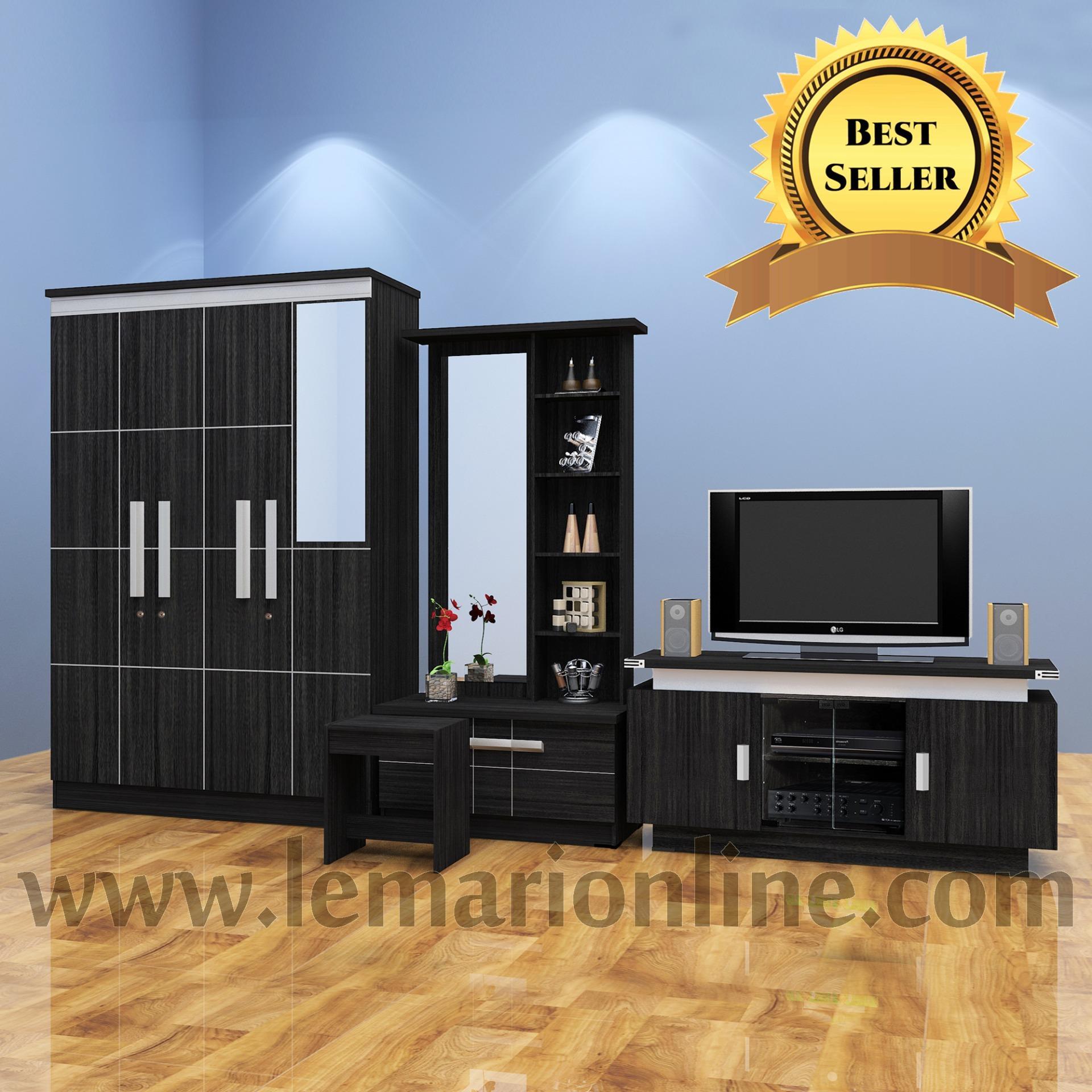 Lemari Pakaian, Meja Rias, & Meja Tv (paket Hemat) By Furniture Minimalis.