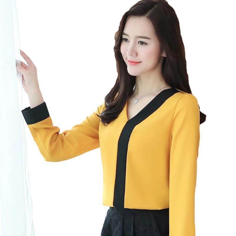 Blouse Tangan Panjang Wanita Gaya Korea Model Terbaru - jfashion Titin