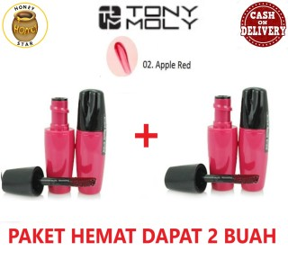 Tony Moly Delight Liptint PROMO HONEY STAR BUY 1 GET 1 Lip Tint Mini 02 Apple Red Tonymoly Mini Size Warna 02 Apple Red - 2 Pcs thumbnail